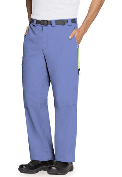 Code Happy Bliss Men's Men's Zip Fly Front Pant Blue