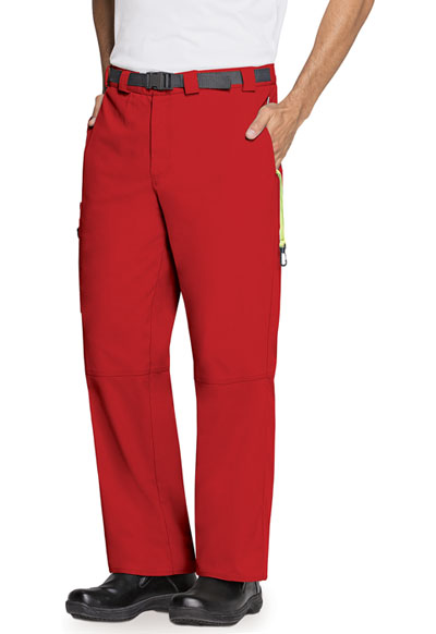 Bliss Men Men's Zip Fly Front Pant Red