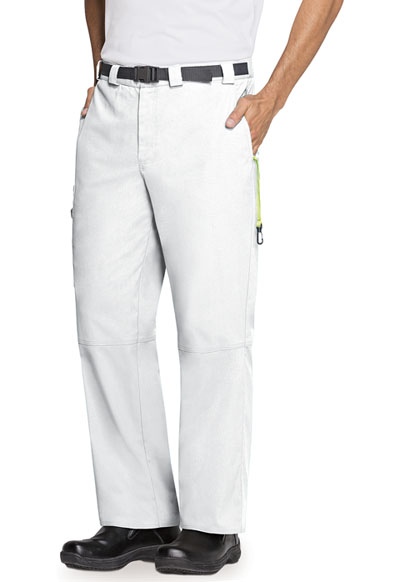 Bliss Men's Men's Zip Fly Front Pant White