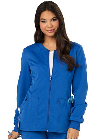 Code Happy Cloud Nine Women's Zip Front Warm-Up Jacket Blue