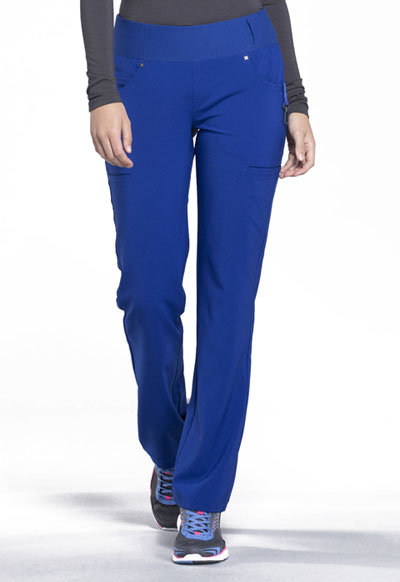 3b795ff0e2e Photograph of iFlex Women's Mid Rise Straight Leg Pull-on Pant Blue CK002 -GAB