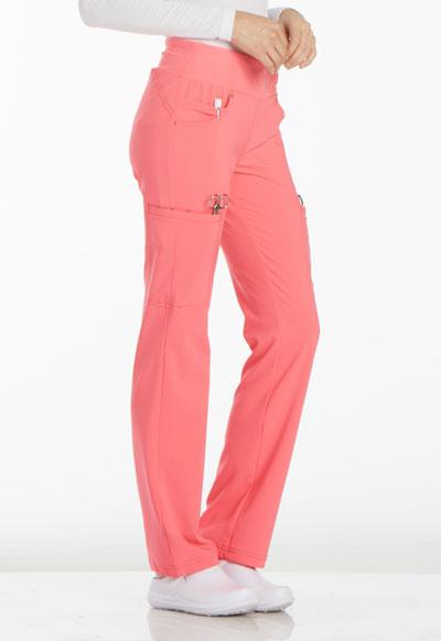 b3416cc2f34 Photograph of iFlex Women's Mid Rise Straight Leg Pull-on Pant Pink CK002 -KAPK