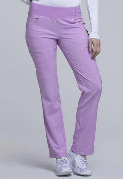 iFlex Women's Mid Rise Straight Leg Pull-on Pant Purple