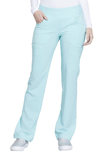 iFlex Women's Mid Rise Straight Leg Pull-on Pant Green