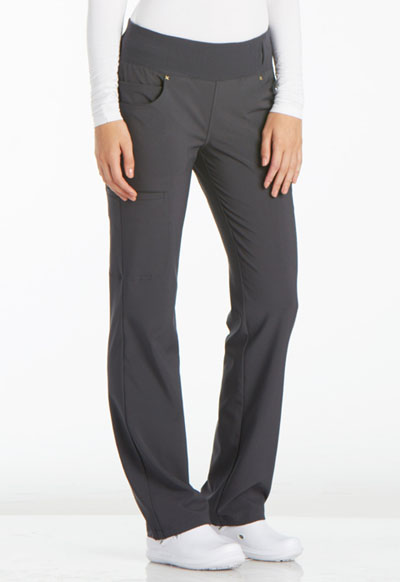 iFlex Women Mid Rise Straight Leg Pull-on Pant Gray