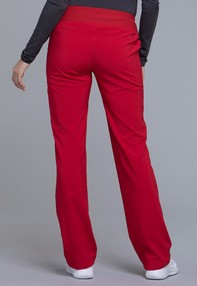 8e96b5e26ee Photograph of iFlex Women's Mid Rise Straight Leg Pull-on Pant Red CK002-RED