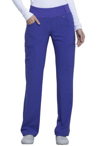 iFlex Women Mid Rise Straight Leg Pull-on Pant Purple