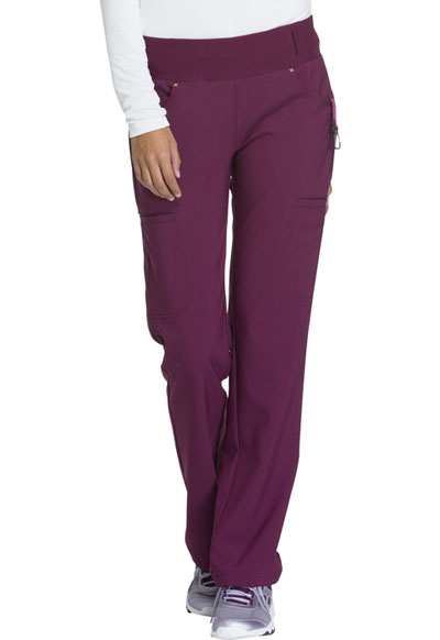 iFlex Women's Mid Rise Straight Leg Pull-on Pant Red