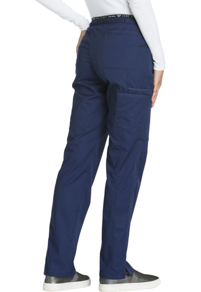 7b734375541 Photograph of Luxe Sport Women's Mid Rise Straight Leg Pull-on Pant Blue  CK003P-