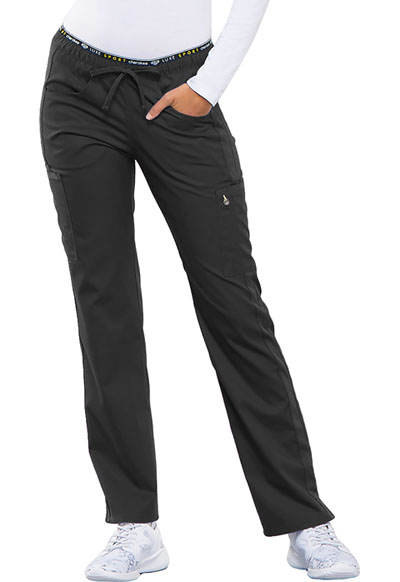 Luxe Sport Women Mid Rise Straight Leg Pull-on Pant Gray