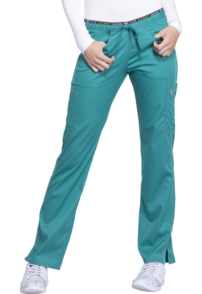Luxe Sport Women's Mid Rise Straight Leg Pull-on Pant Green