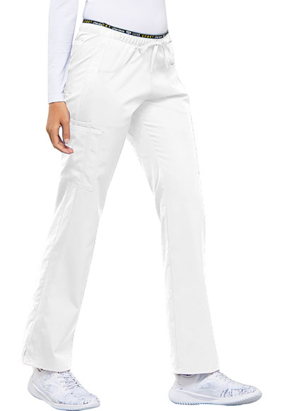 9f1cf981112 Photograph of Luxe Sport Women's Mid Rise Straight Leg Pull-on Pant White  CK003-
