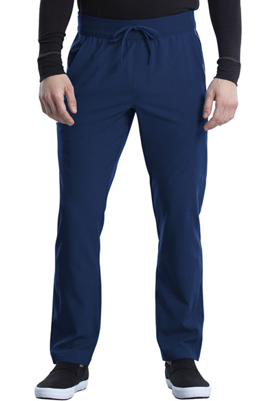 iFlex Men Men's Tapered Leg Drawstring Cargo Pant Blue