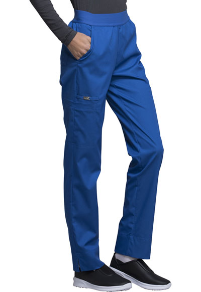 60604954781 Photograph of Luxe Women's Natural-Rise Tapered Leg Pant Blue CK040-ROYV