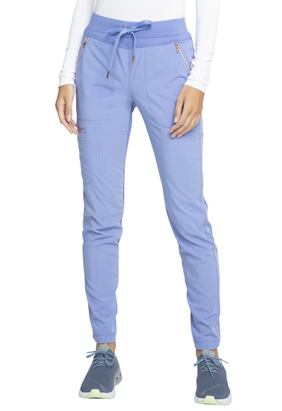 Statement Women Mid Rise Straight Leg Drawstring Pants Blue