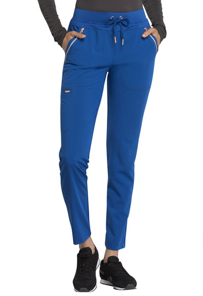 Statement Women's Mid Rise Straight Leg Drawstring Pants Blue