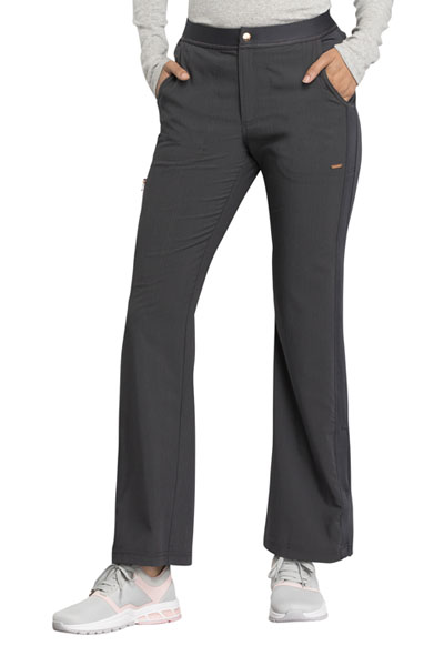 Statement Women's Natural Rise Flare Leg Pant Gray