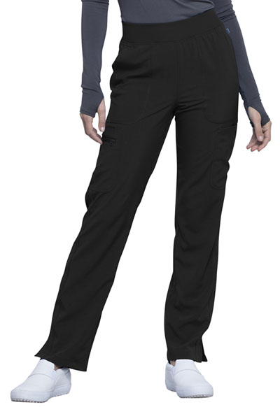 Infinity Women Mid Rise Tapered Leg Pull-on Pant Black