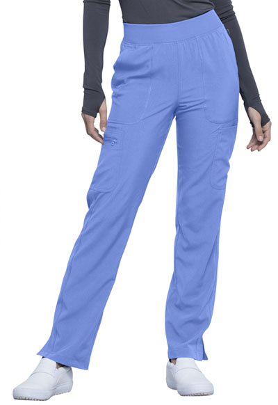 Infinity Women's Mid Rise Tapered Leg Pull-on Pant Blue