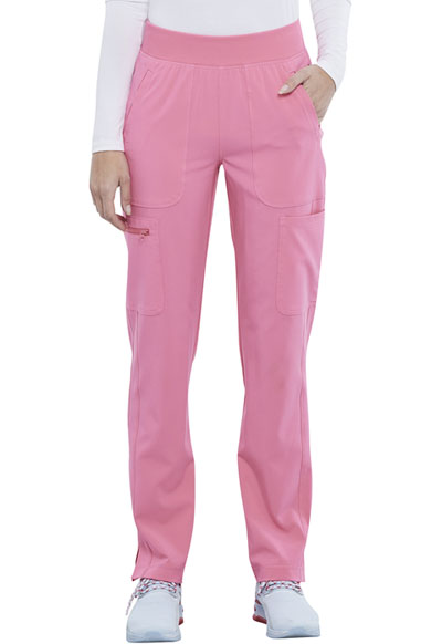 Infinity Women Mid Rise Tapered Leg Pull-on Pant Pink