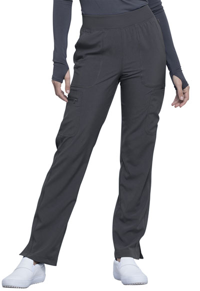 Infinity Women Mid Rise Tapered Leg Pull-on Pant Gray