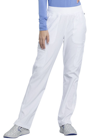 Infinity Women Mid Rise Tapered Leg Pull-on Pant White
