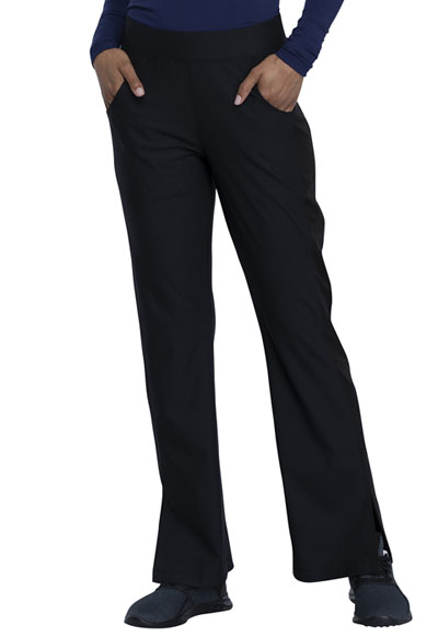 Cherokee Form Women Mid Rise Moderate Flare Leg Pull-on Pant Black
