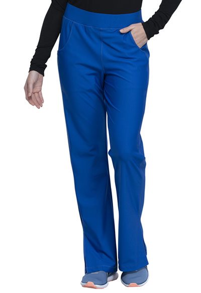 Cherokee Form Women Mid Rise Moderate Flare Leg Pull-on Pant Blue