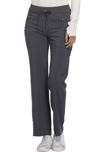 Infinity Women's Mid Rise Tapered Leg Drawstring Pants Gray