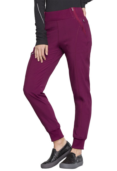 9f3d6c7ebf5 Photograph of Infinity Women's Mid Rise Tapered Leg Jogger Pant Red CK110AP- WNPS