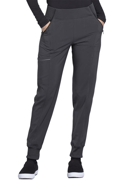 Cherokee Infinity Women's Mid Rise Tapered Leg Jogger Pant Gray
