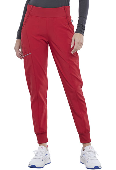 Infinity Women Mid Rise Jogger Red