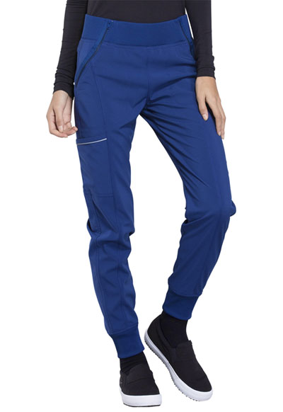 Infinity Women's Mid Rise Tapered Leg Jogger Pant Blue