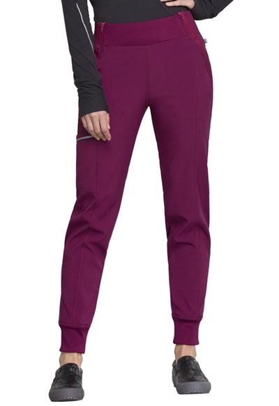 Infinity Women's Mid Rise Tapered Leg Jogger Pant Red