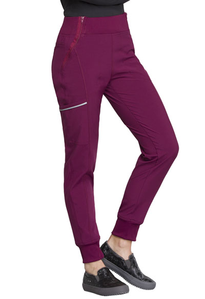 e8453451cb3 Photograph of Infinity Women's Mid Rise Tapered Leg Jogger Pant Red CK110A- WNPS