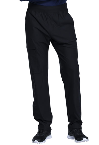 Cherokee Form Men's Men's Tapered Leg Pull-on Pant Black