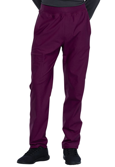 Cherokee Form Men Men's Tapered Leg Pull-on Pant Red