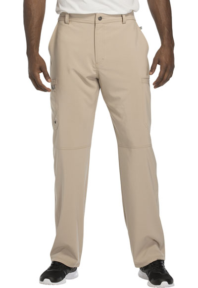 Infinity by Cherokee Men's Men's Fly Front Pant Khaki