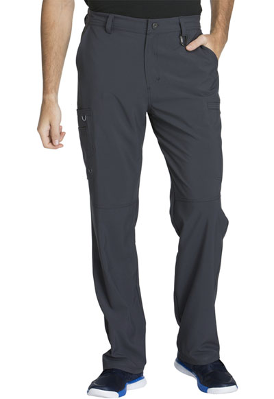 Infinity by Cherokee Men's Men's Fly Front Pant Gray