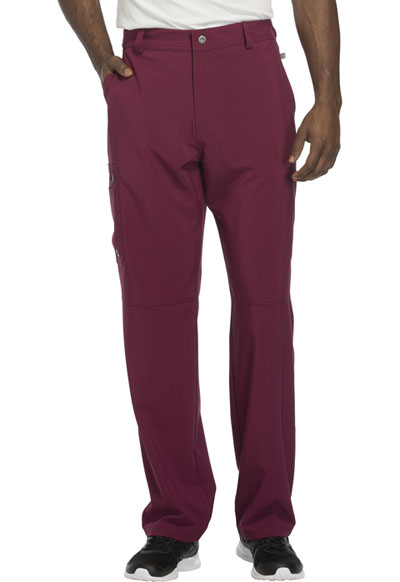 Infinity by Cherokee Men's Men's Fly Front Pant Red