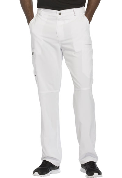 Infinity by Cherokee Men's Men's Fly Front Pant White