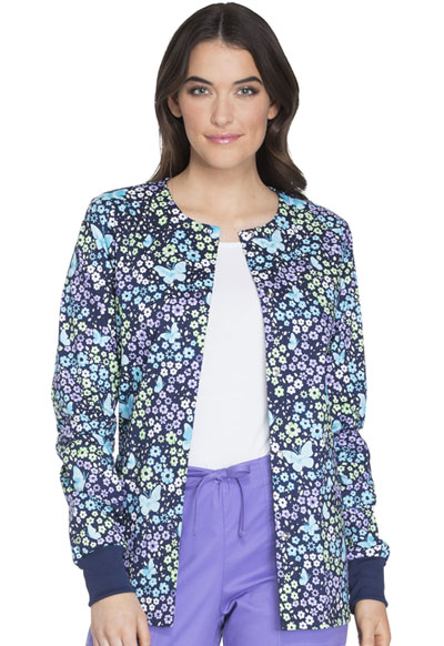 Cherokee Prints Women's Snap Front Warm-up Jacket Love The Way You Fly