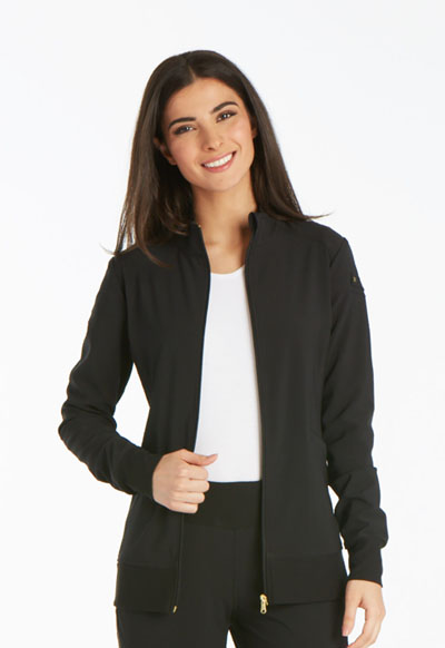iFlex Women's Zip Front Warm-Up Jacket Black