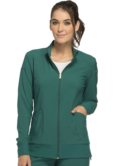 iFlex Women's Zip Front Warm-Up Jacket Green
