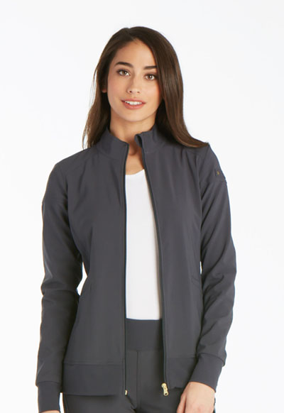 iFlex Women's Zip Front Warm-Up Jacket Gray