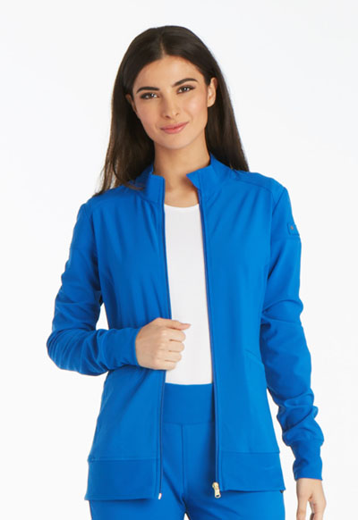 iFlex Women's Zip Front Warm-Up Jacket Blue