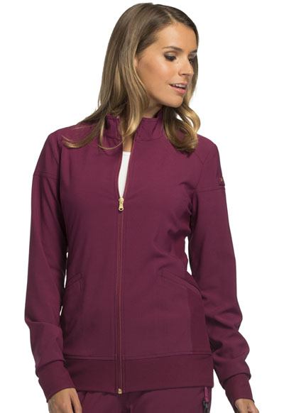 iFlex Women's Zip Front Warm-Up Jacket Red