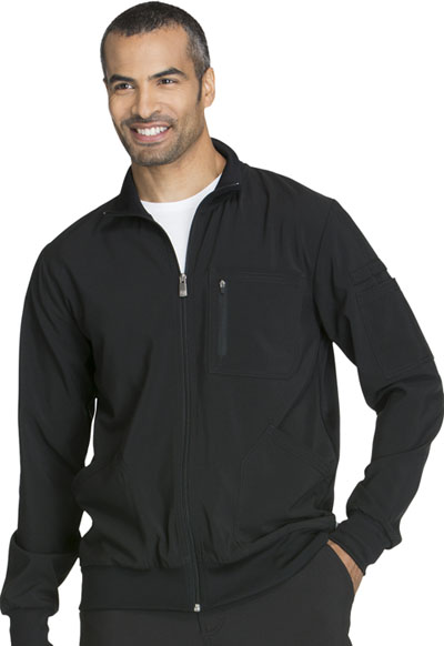 Infinity by Cherokee Men's Men's Zip Front Jacket Black