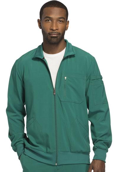 Infinity by Cherokee Men's Men's Zip Front Jacket Green
