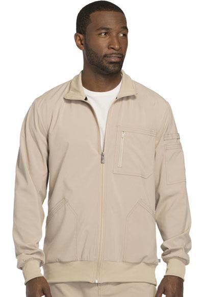 Infinity by Cherokee Men's Men's Zip Front Jacket Khaki